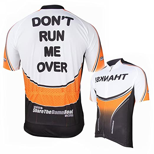 Amazon.com  Corbah Dont Run Me Over 2.0 Cycling Jersey  Clothing b0a9a376a