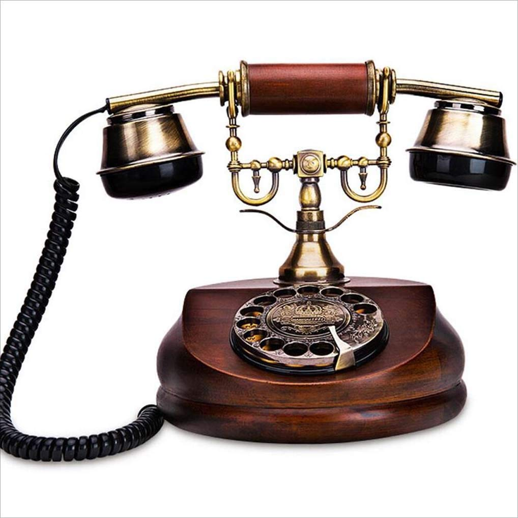 DDHZTA Europäisches antikes Telefon rotieren antike Büro Festnetz American Fashion kreative Festtelefon Massivholz