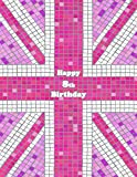 Happy 8th Birthday: Notebook, Journal, Diary, 105 Lined Pages, Pink Union Jack Themed Birthday Gifts for 8 Year Old Girls or Boys, Children, Kids, ... or Son, Best Friend, Book Size 8 1/2' x 11'