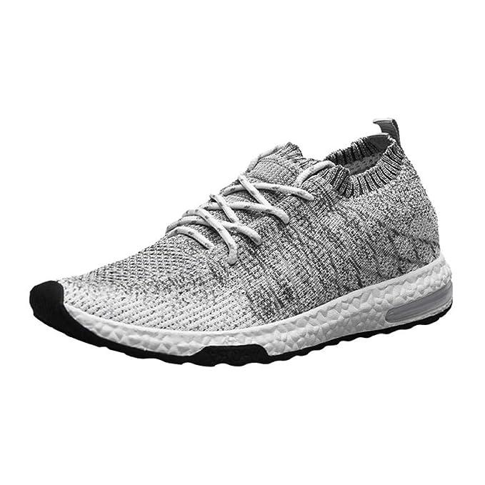 QUICKLYLY Calzado Deportivo de Hombre/Mujer, Zapatos de Corriendo, Zapatillas Deporte De Tenis para Ocasionales Ligeros Transpirables Y con Cordones: ...