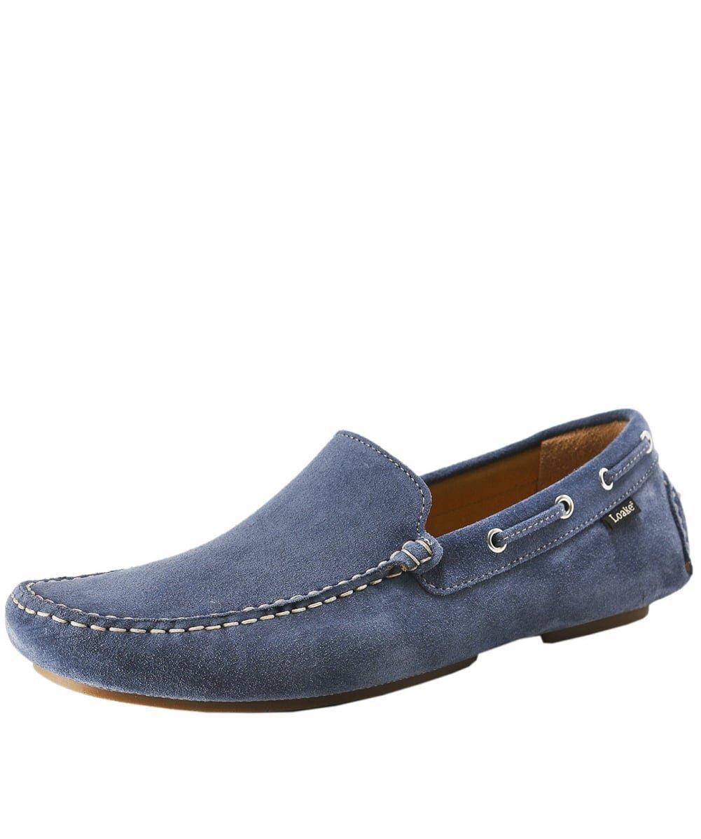 Loake Hombres donington Ante Zapatos de Conducción Azul Claro 13 UK Azul Claro