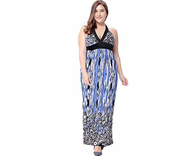 Amazon Sunling Womens Long Sexy Halter Dress For Beach Party