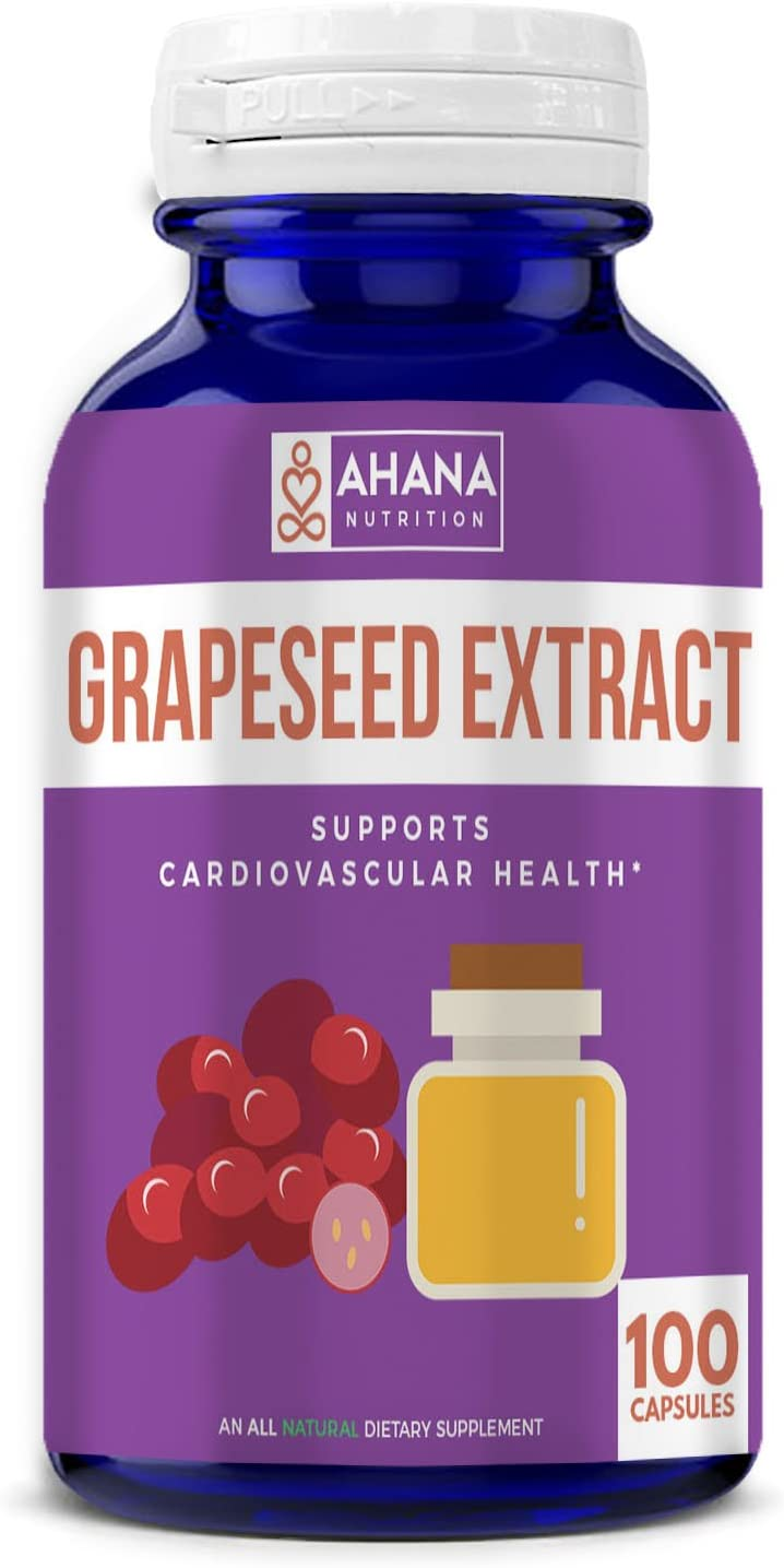 Maximum Strength Grapeseed Extract Capsules – Contains Antioxidants, Supports Heathy Weight Loss, Aids Skin Health Maintains Blood Pressure Levels