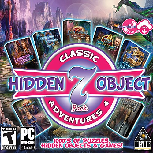 Hidden Object Classic Adventures IV - 7 Great Games - 5 Collectors Editions Included (Hidden Objects Computer Games)