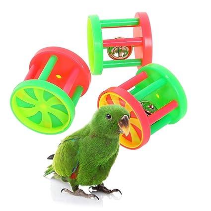 Amazon Com Qbleev Bird Roller Rattles Toys Parrot Foot