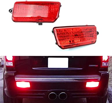 Amazon.com: iJDMTOY Complete LED Rear Fog Light Kit Compatible With 2005-2010  Jeep Grand Cherokee WK1, Includes Brilliant Red LED Bulbs, Red Lens Foglamp  Assemblies & Wiring Harness: AutomotiveAmazon.com