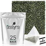 Tealyra - Gyokuro Kokyu Premium - 25 Bags - Japanese Green Loose Leaf Tea - Pyramids Style Sachets