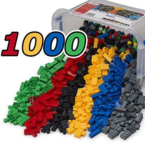 JaxoJoy 1000-Piece Building Bricks - Multi Color Blocks - Snug Fit with all Major Brands