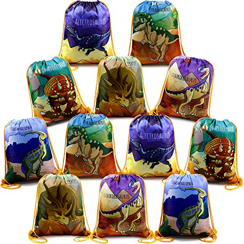 Jurassic Park Party Ideas (Dinosaur-Party-Supplies-Favors-Bags Drawstring Backpack Bag for Boys Girls Jurassic World Birthday Parties Goody Ideas 12)