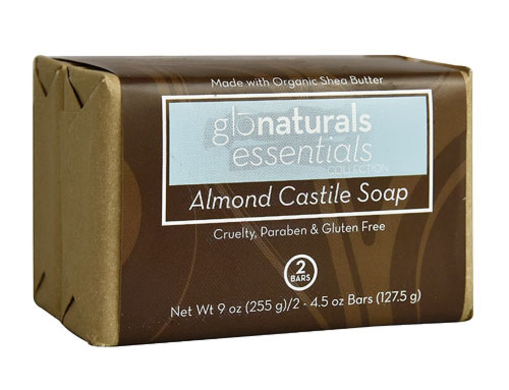 Amazon com : Glonaturals Essentials Almond Castile Soap - 2 Bar Pack