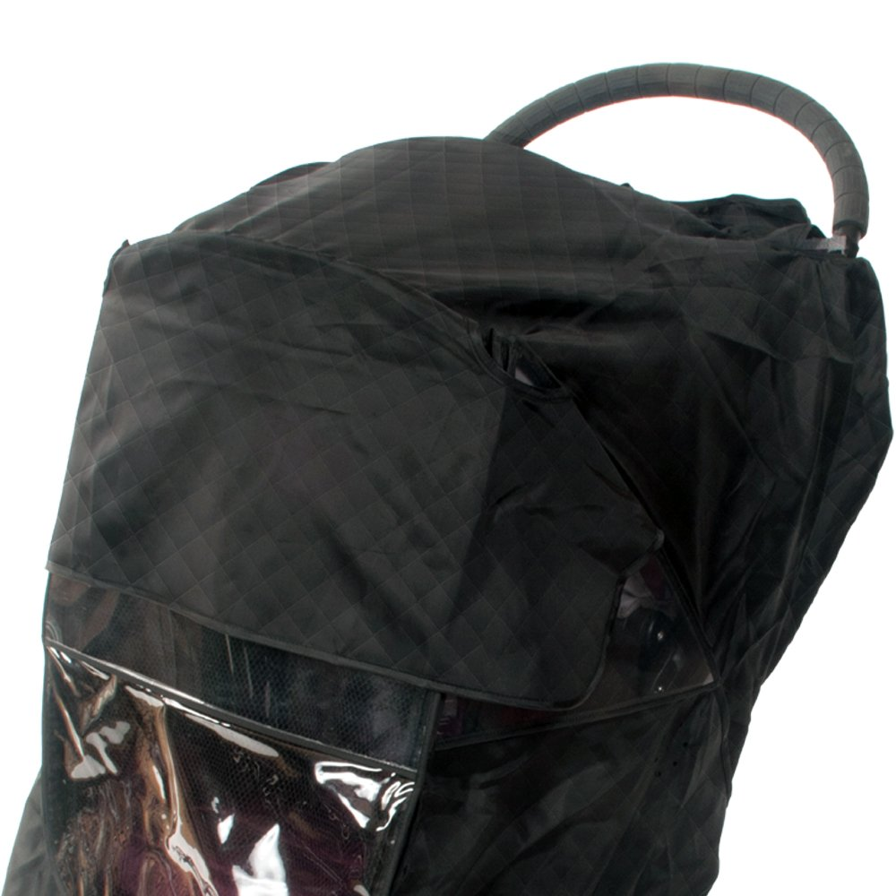 Comfy Baby Insulated Quilted Rain-cover Clear See-Thru Windows with Extra Sun Shade and Protection Net, Special Designed for the City Mini Double Stroller by Comfy Baby (Image #4)