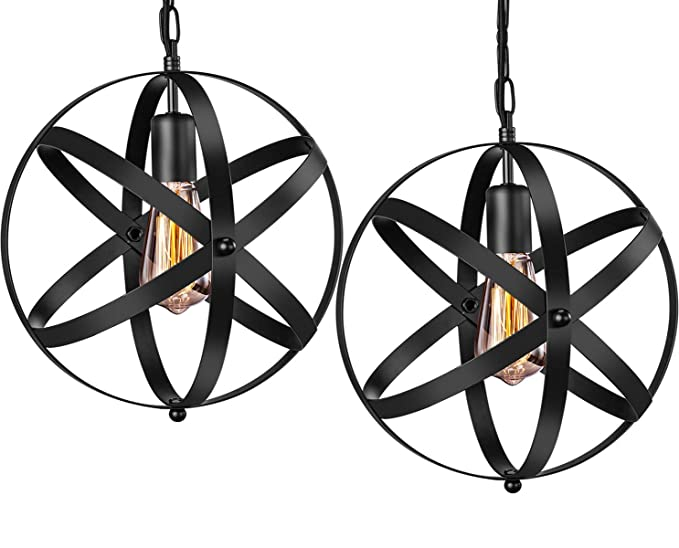 Industrial Pendant Light Innoccy 2 Pack Vintage Spherical Fixture With 393 Inches Adjustable Metal Chain Amazon: Kitchen Ceiling Light Wiring Diagram At Ultimateadsites.com