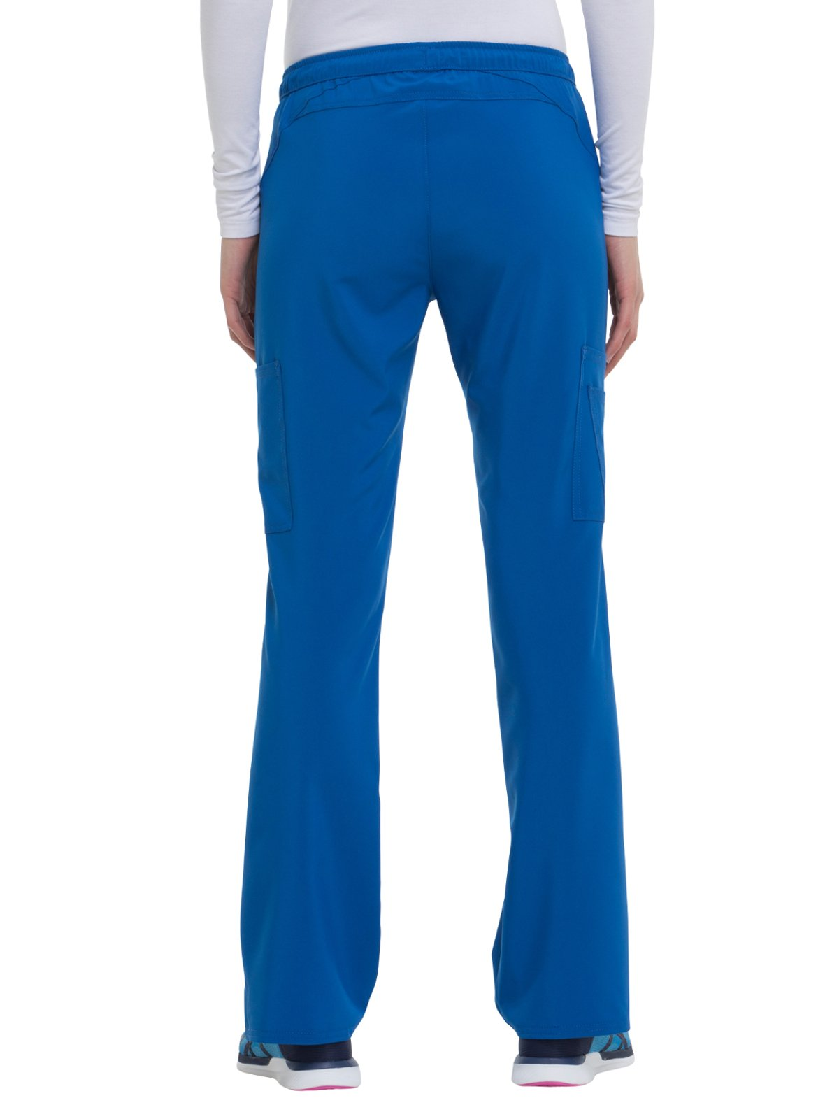 HeartSoul Love Always Women's Charmed Low Rise Drawstring Cargo Scrub Pant Small Royal by HeartSoul (Image #2)