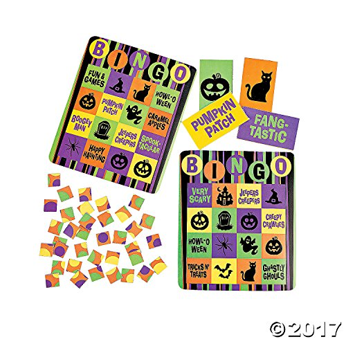 Cardboard Iconic Halloween Bingo Set - 16 Player -