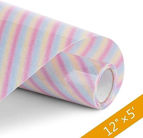 Glitter Vinyl HTV for T Shirts Heat Transfer Eco Friendly w// High Durability 5/'