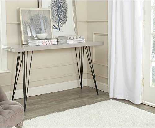 Safavieh Home Collection Wolcott Mid-Century Modern Taupe and Black Console Table