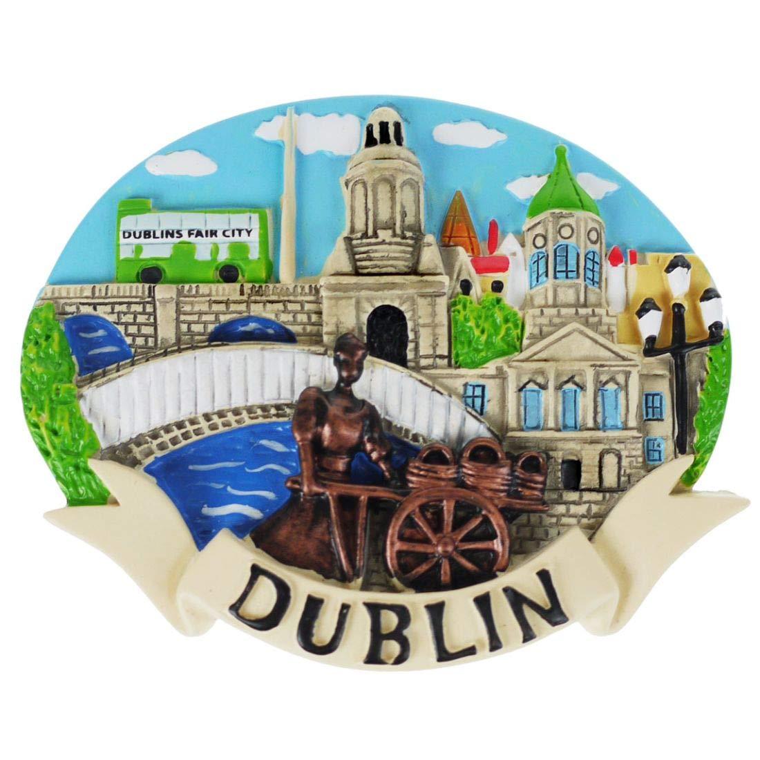 Dublin Ireland Resin Magnet - Montage