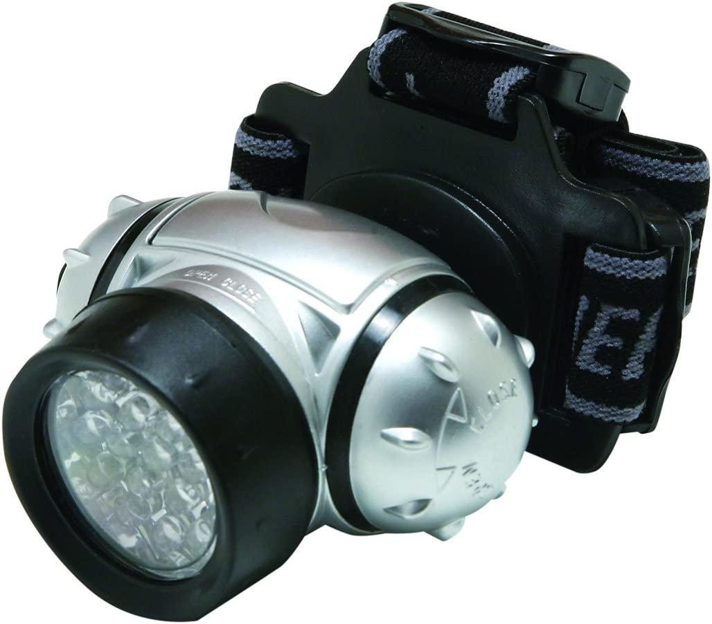 NEW Hilka 19 LED Headlamp Headlight Including Batteries Water Resistant