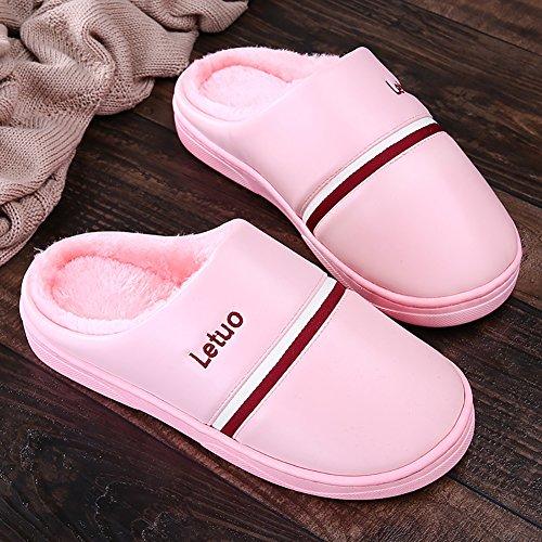 Chaussures Chaussons Unisexe Slippers Antidérapants Sk Chaud Studio Peluche Maison De Pantoufles Rose Hiver qtcOgz