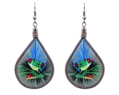 Amazon.com: Mia Jewel Shop - Pendientes colgantes con diseño ...