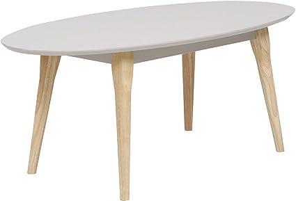 Tesco New Miami Retro Style Oval Coffee Table Taupe