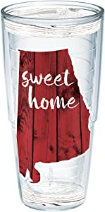 Tervis Sweet Home Alabama Insulated Tumbler with Wrap, 24oz, Clear