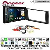 Pioneer AVIC-5201NEX Double Din Radio Install Kit with Navigation Apple Carplay Bluetooth Fits 2002-2006 Toyota Camry with Amplified System