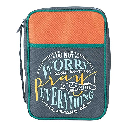 Do Not Worry Philippians 4:6 Thinline 6.5 x 9.5 Reinforced Polyester Bible Cover Case by Dicksons