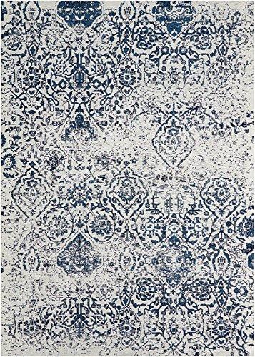 Nourison Damask Vintage Distressed Area Rug -  - living-room-soft-furnishings, living-room, area-rugs - 61np%2BT0kwvL -