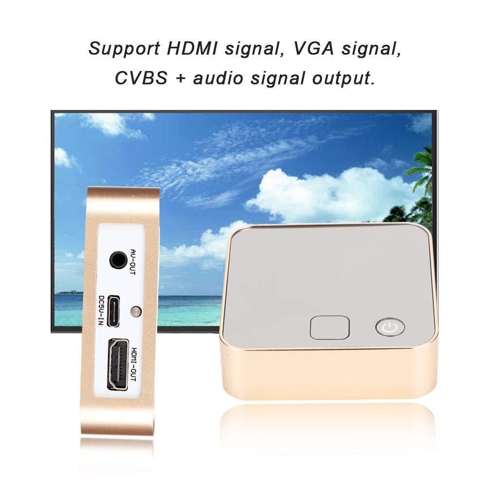 HDMI VGA CVBS Monitor Tester Audio Signalgenerator f/ür Reparatur und Pr/üfung von Fernsehger/äten//Pr/üfung von LCD Bildschirmen im Werk usw.
