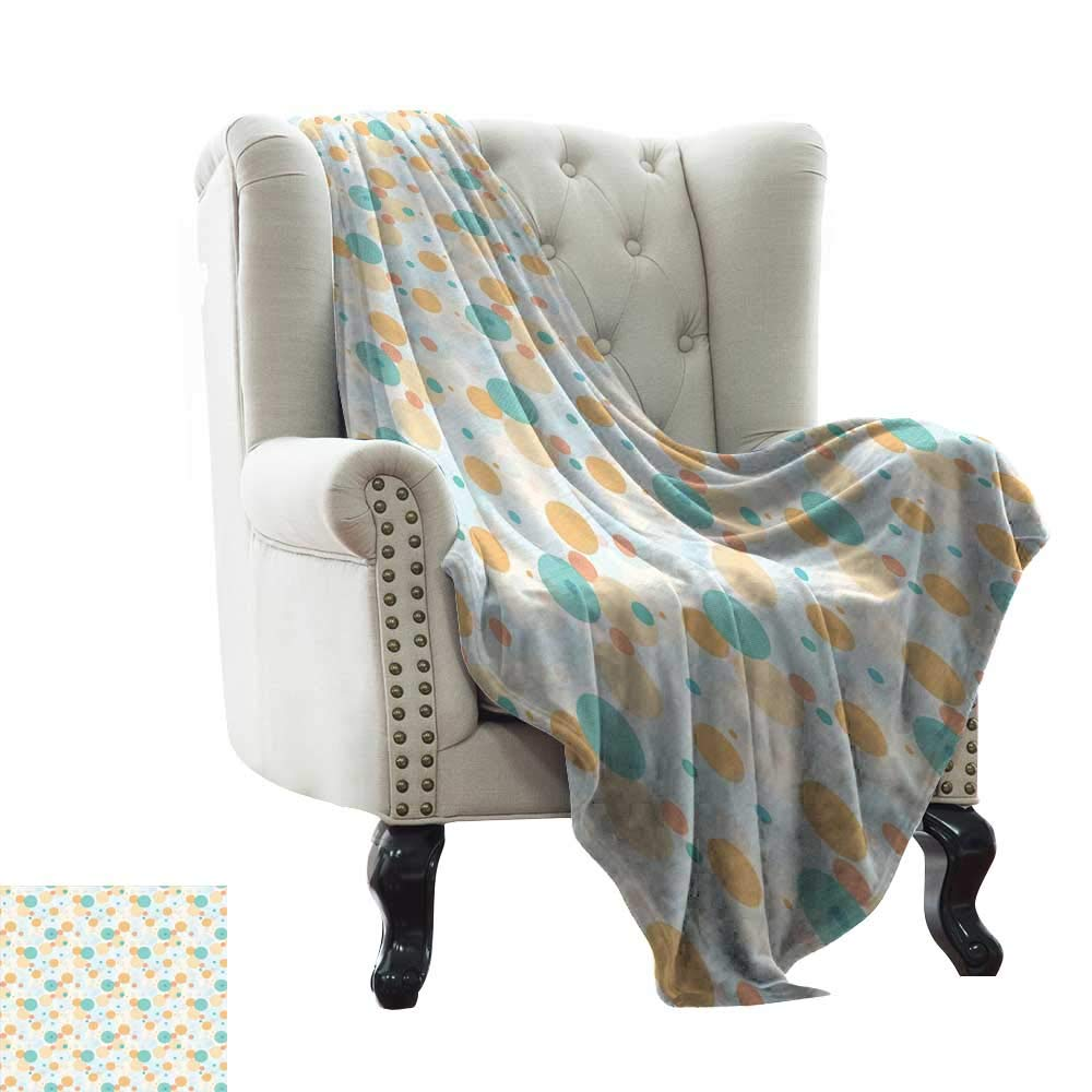 color13 LsWOW Women's Blanket Geometric,Striped Pattern with Tropical Tones Diagonal Stripes Design Abstract,Seafoam Yellow White Soft, Fuzzy, Cozy, Lightweight Blankets 70 x90