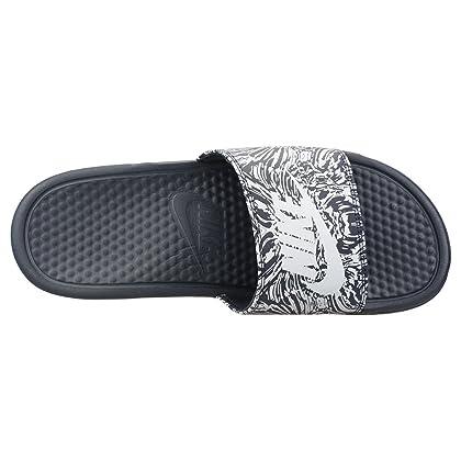 3ad37f29595624 ... Nike  631261-403  Benassi JDI Print Mens Obsidian Pure Platinum Sandals  (