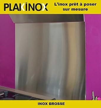 PLAKINOX   CREDENCE EN INOX   Adhésive, 60 X 50 Cm INOX BROSSE 304