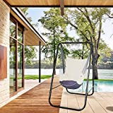 PIRNY Hammock Chair Stand with Hanging Swing-Study