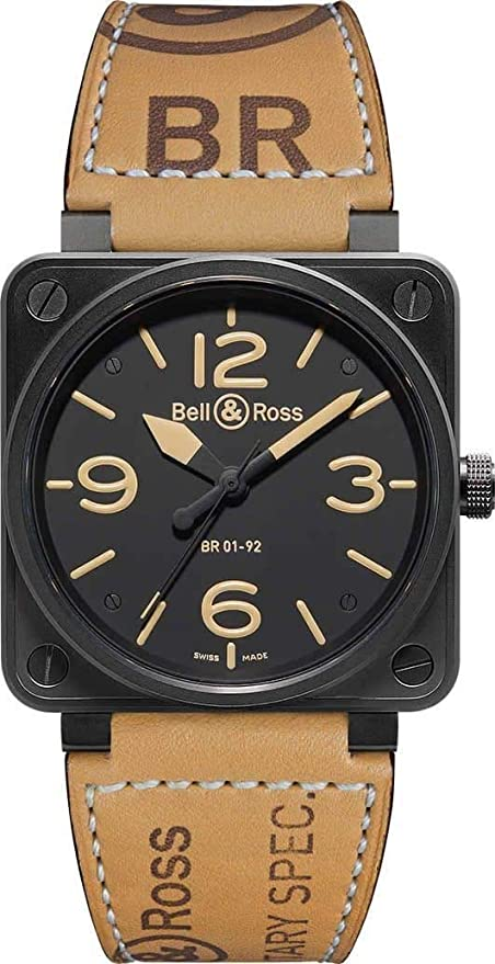 Amazon Com New Bell Ross Heritage Automatic Xl Watch Br 01 92 Heritage Bell Ross Watches