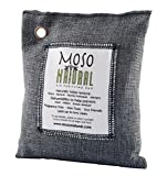 Moso Natural Air Purifying Bag 5 Pack. Bamboo Charcoal Air Freshener, Deodorizer, Odor Eliminator, Odor Absorber for Cars and Closets. 200g Charcoal Color