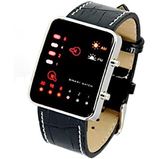 Sannysis® LED Reloj del Deporte de la muñeca; Reloj de Pulsera de Cuero Binario