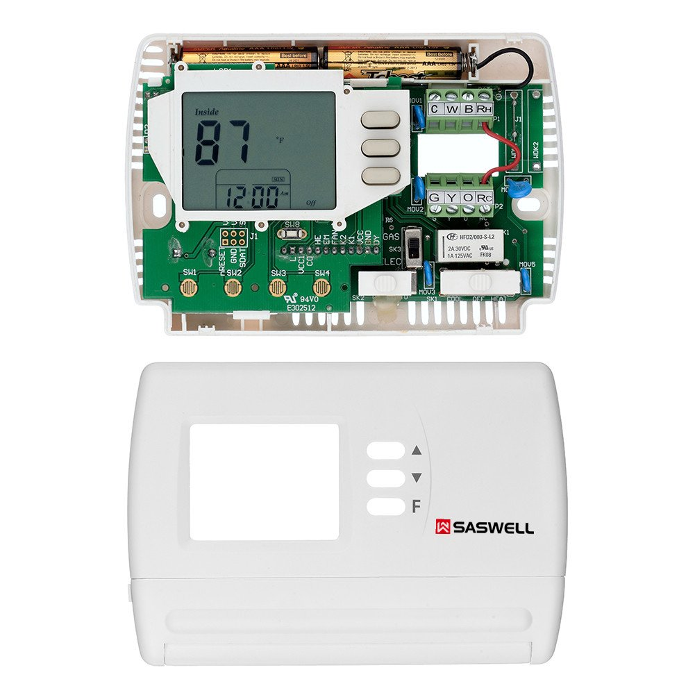 Single Stage 5-2 Programmable Thermostat,24 Volt or Millivolt System,1 Heat 1 Cool,Saswell SAS900STK-2 by Saswell (Image #4)