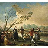 Oil painting 'Goya y Lucientes Francisco de Picnic on the Banks of the Manzanares 1777 ' printing on polyster Canvas , 24 x 26 inch / 61 x 66 cm ,the best Kids Room decor and Home decoration and Gifts is this Vivid Art Decorative Canvas Prints