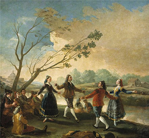 Oil Painting 'Goya Y Lucientes Francisco De Picnic On The Banks Of The Manzanares 1777 ' Printing On High Quality Polyster Canvas , 30 X 32 Inch / 76 X 82 Cm ,the Best Gift For Relatives And Home Decoration And Gifts Is This Beautiful Art Decorative Prints On Canvas