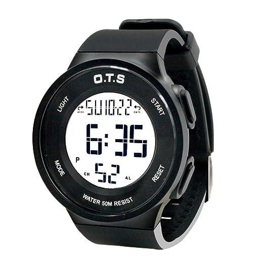 0f60b1018b0c OTS - Reloj Deportivo para Niños Digital Resisitente al Agua Multifuncional  con Luz Alarma Electrónico Infantil Regalo para Niñas - Negro  Amazon.es   ...