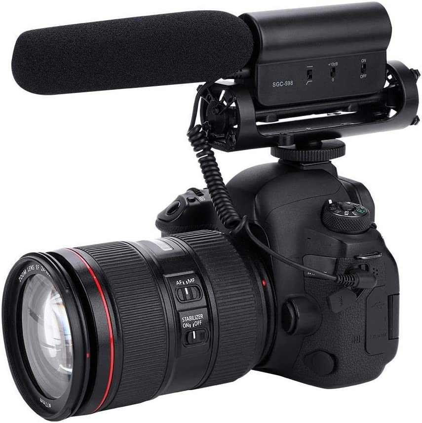 Camera Interview Micropohone,Professional On-Camcorder Mic for Nikon D7000 D7100 D5200 D3200 D800 D600 D800E D90 D5100 D3100 D300S D4 D3S for Canon 550D 7D 600D 60D 5D for Olympus E-5 for Pentax K-5