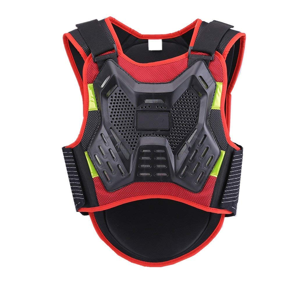 Quisilife Cycling Body Protector Black Body Chest Spine Protector Anti-Fall Armor Vest Protective Gear for Motorcycle Motocross Dirtbike Cycling Skiing Snowboarding (Size : S)