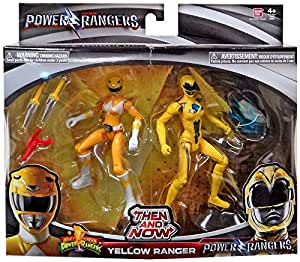 Saban's Power Rangers Movie Then and Now Yellow Ranger Action Figure Set 5 Inches