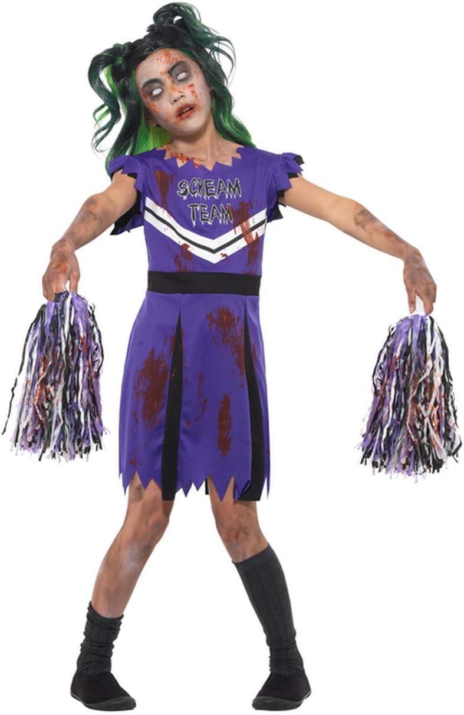 Disfraz de Zombi de Halloween para niña, con Pompones de pompón ...