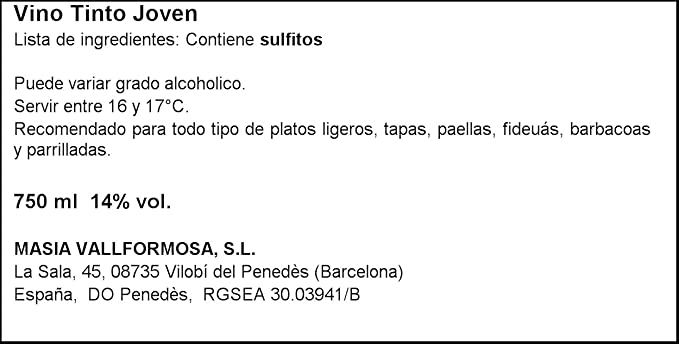 Mas La Roca - Vino Tinto Joven Tempranillo Cabernet Sauvignon garnacha Do Penedès - Botella 750 ml: Amazon.es: Alimentación y bebidas