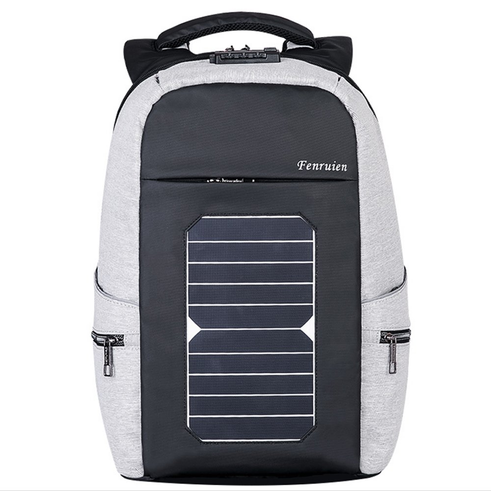 Eshow Laptop Backpack with USB Charging Port Solar Charger, for Travel Business and School, Anti-theft Fits 17.6'' Laptop, Large Capacity Thoughtful Compartment Design by Eshow