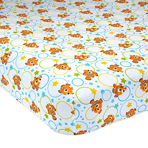 Disney Baby Finding Nemo Fitted Crib Sheet - A Day at The Sea - Sheets Nemo Finding Disney