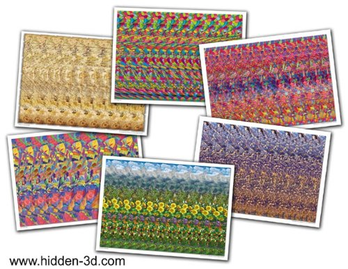 "Set of Six 18""x13"" Stereogram Posters"