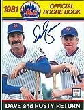 Dave Kingman autographed New York Mets program 1981